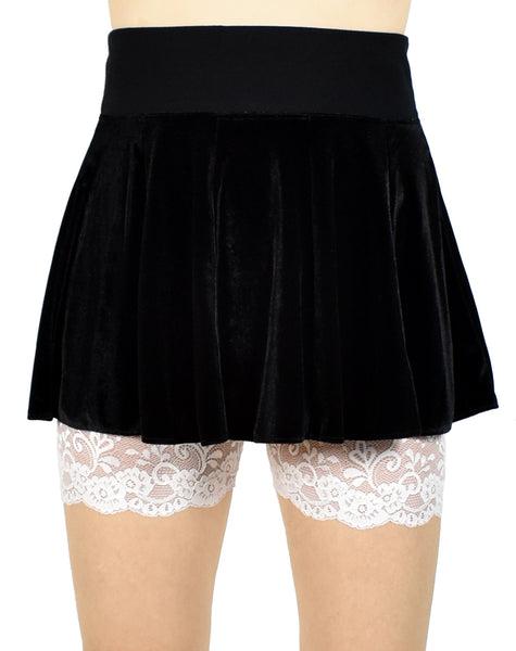 "Ivory Off-White Lace Leg Shorts (3.5"" inseam)"