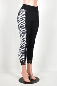 Zebra and Metal Leggings