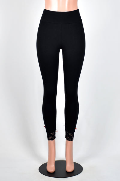Lace-Up Back Leggings (red, rainbow, or black lacing)