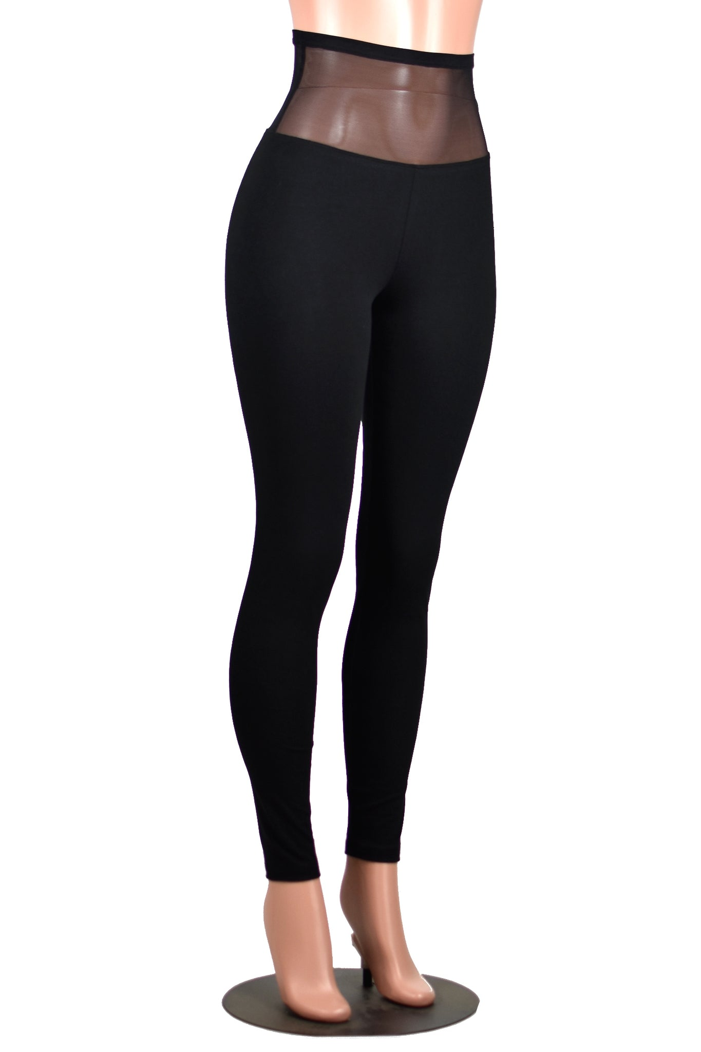 Mesh Waistband Leggings