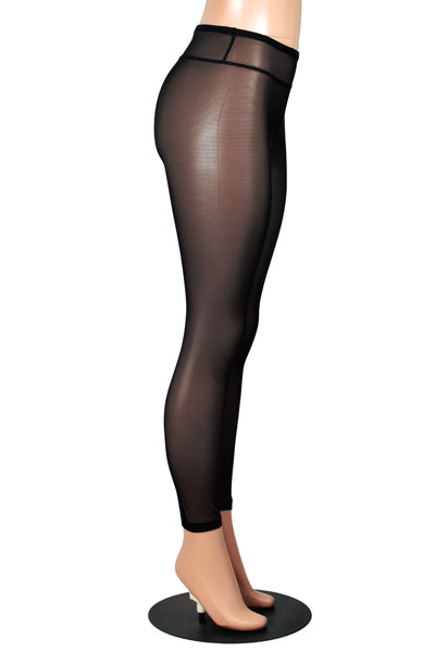 Sheer Black Mesh Leggings
