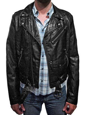 Faux Leather Biker Jacket (Made by Tripp NYC)