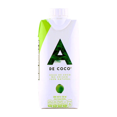 A de Coco, Agua de Coco, 100% Natural, 330 ml