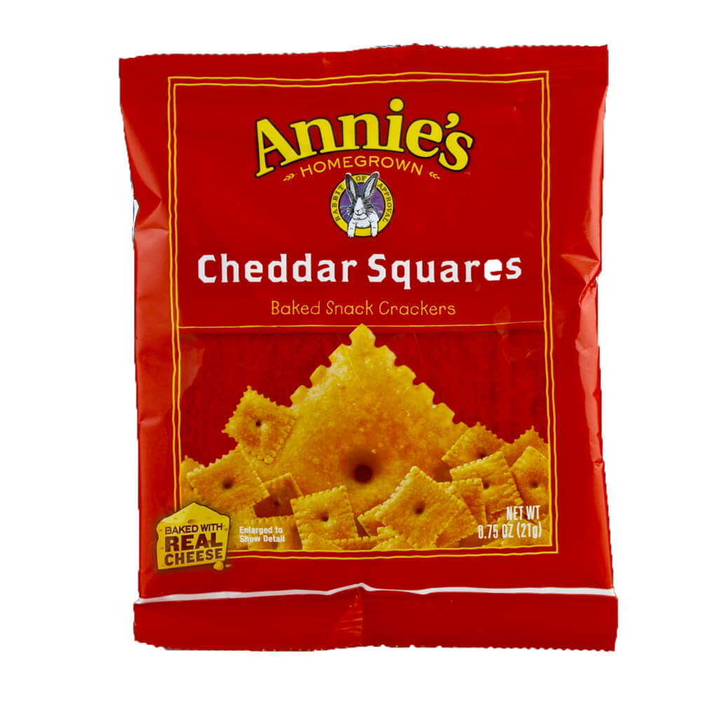Annie's Homegrown, Galletas de Cheddar, 21g
