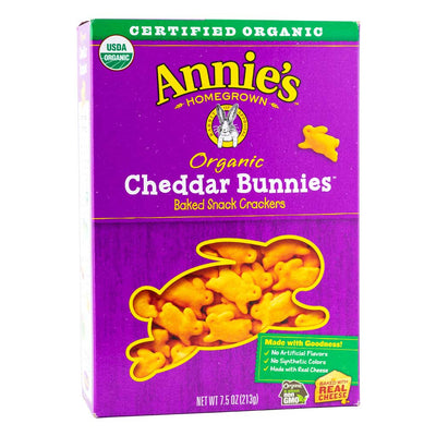 Annie's Homegrown, Galletas de Conejitos Cheddar, Orgánicos, 213g