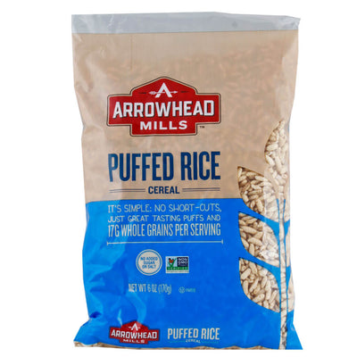 Arrowhead Mills, Cereal de Arroz Inflado Natural, 170g