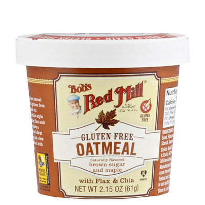 Bob's Red Mill, Avena con Azúcar morena y Maple, 61 g