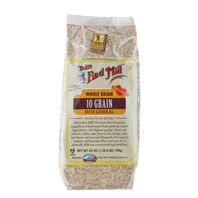 Bob's Red Mill, Cereal Caliente de 10 Granos Enteros, 708 g