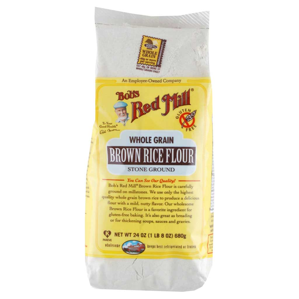 Bob's Red Mill, Harina de Arroz Integral de Grano Entero, Sin Gluten, 680 g