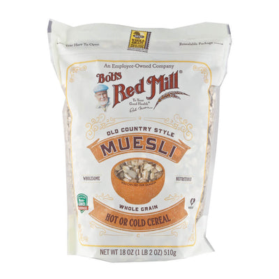 Bob's Red Mill, Muesli Clásico, Grano Entero, 510 g