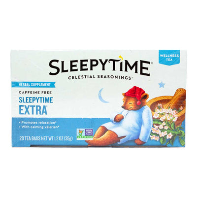 Celestial Seasonings, Té Herbal, Extra Hora de Dormir, Descafeinado, 20 pz, 35g