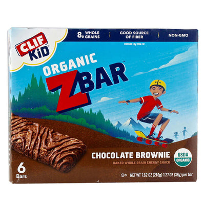 Clif Kid, Barritas de Chocolate Brownie Orgánicas para Niñ@s, 6 barras, 216 g