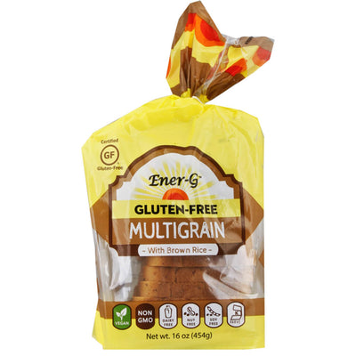 EnerG, Pan de Arroz Integral, Multigrano, Sin Gluten, 454 g