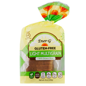 EnerG, Pan de Arroz Integral Light, Sin Gluten, 228 g