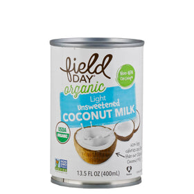 Field Day, Leche de Coco, Sin Endulzar, Light, Orgánica, 400ml