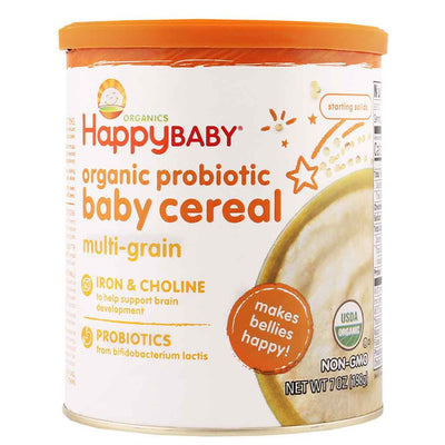 Happy Baby, Cereal Multigrano Probiótico Orgánico, 198 g
