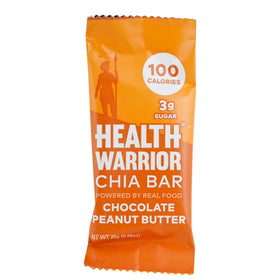 Health Warrior, Barra Chía, Chocolate y Crema de Cacahuate, 25 g