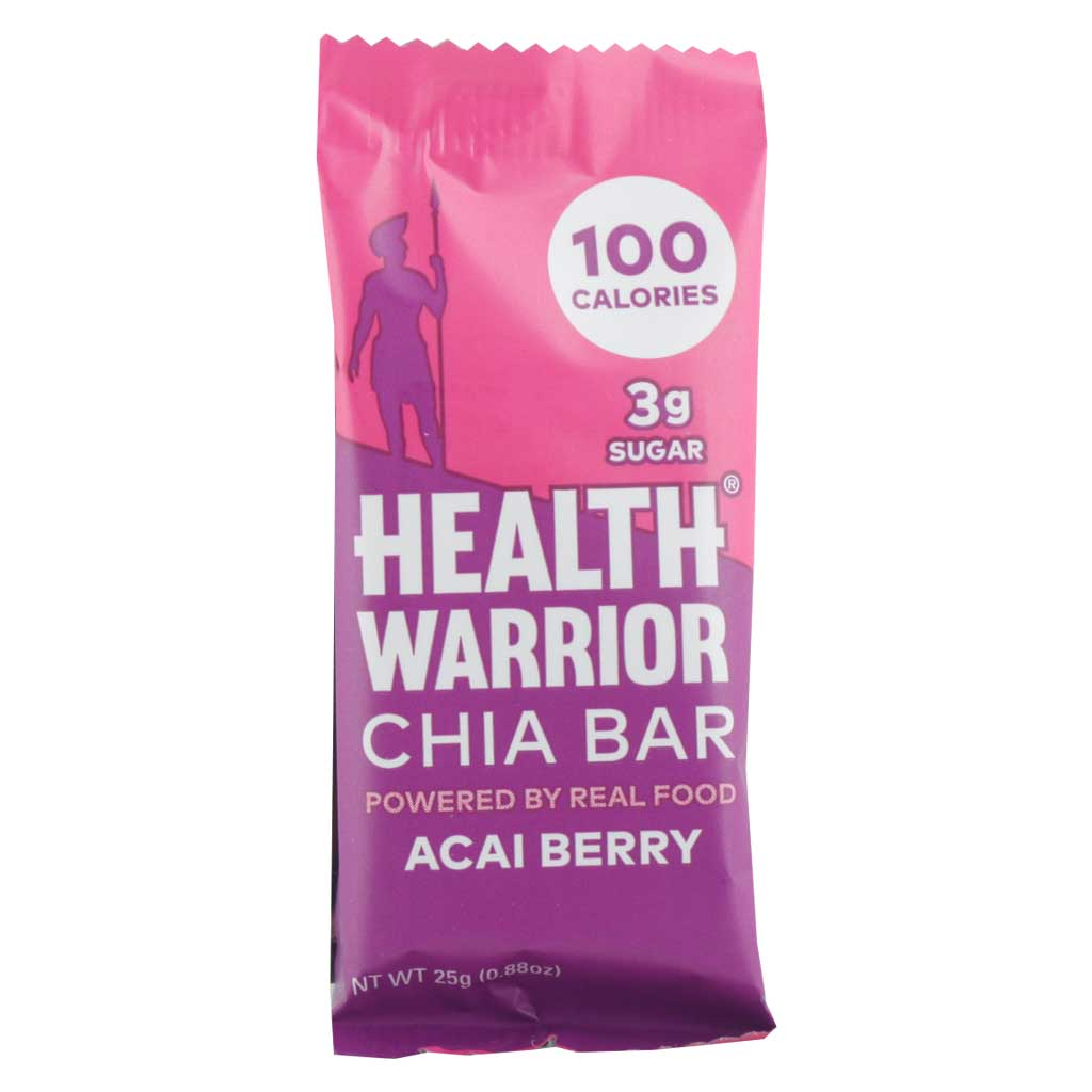 Health Warrior, Barra Chía y Moras Acai, 15 g