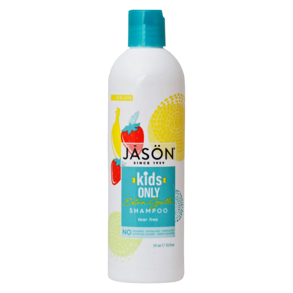 Jason Natural, Shampoo, para niños, Extra Suave, 517 ml