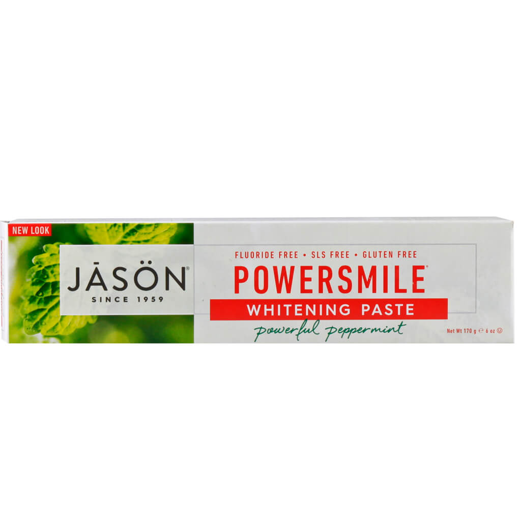 Jason Natural, Pasta Dental, Blanqueadora Natural, Sabor Menta, 170g