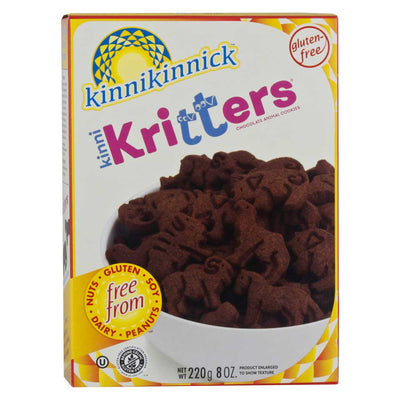 Kinnikinnick, Galletas de Animalitos, Sabor Chocolate, Sin Gluten, 220 g