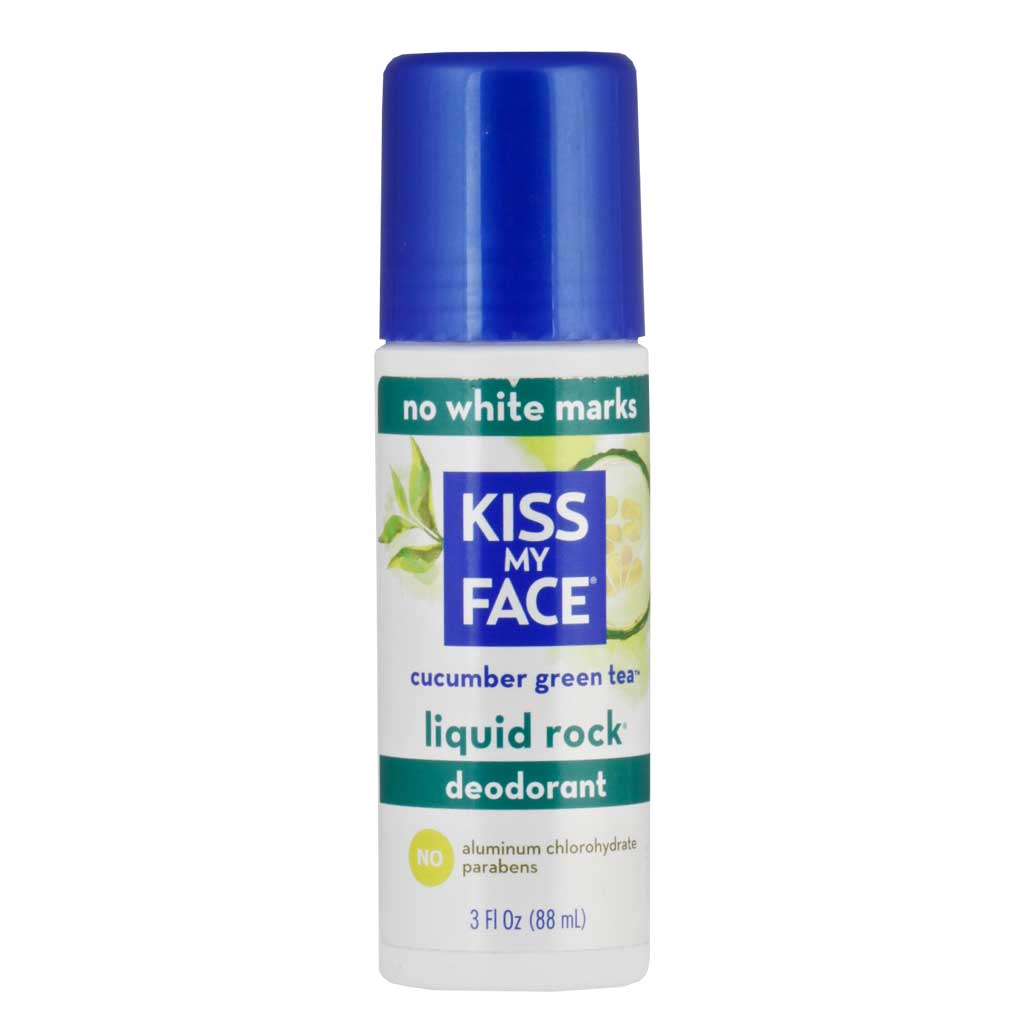 Kiss My Face, Desodorante Natural, Té Verde y Pepino, 88 ml