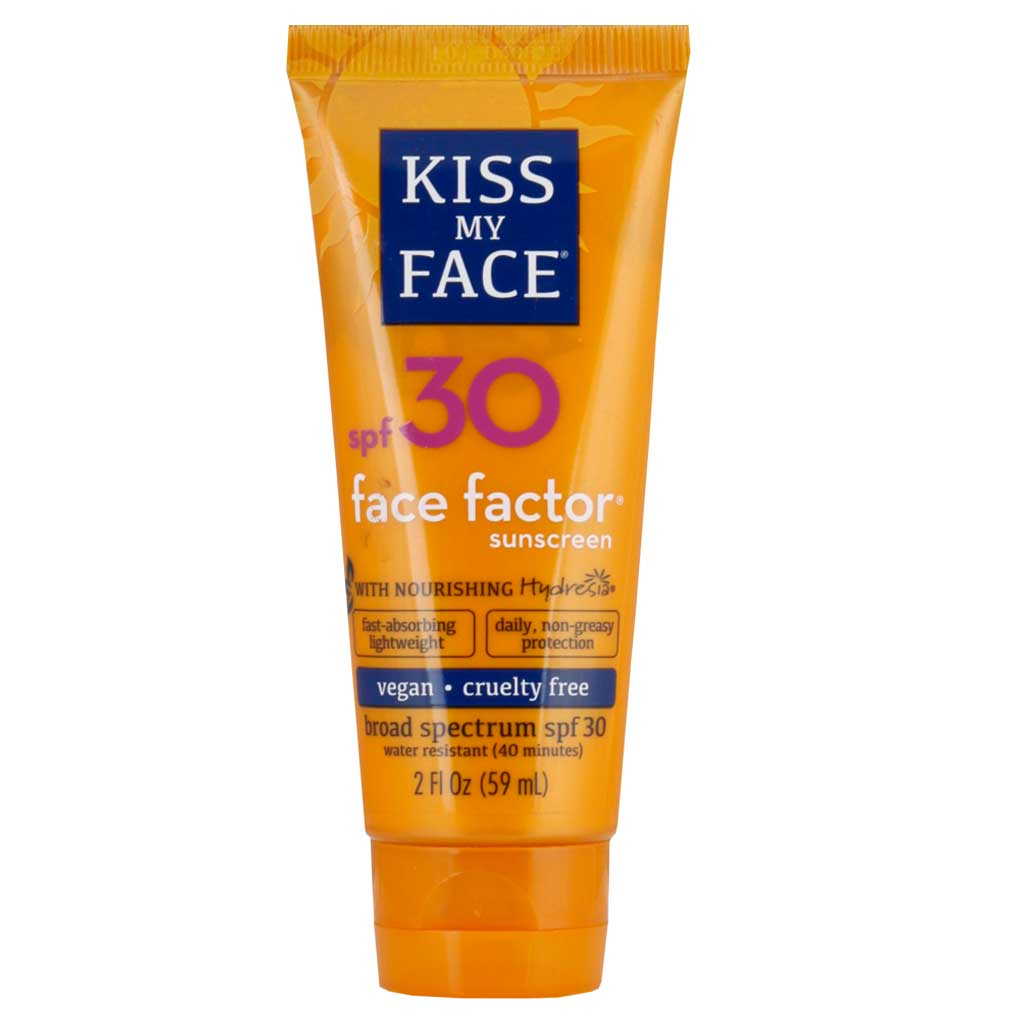 Kiss My Face, Face Factor, Protector solar, Cara y cuello, FPS 30, 59 ml