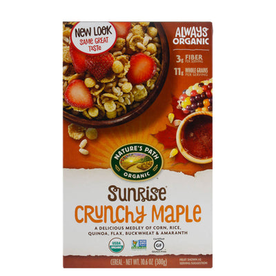 Nature's Path, Cereal de Arce Crujiente con Maple, Sin Gluten, Orgánico,  300 g