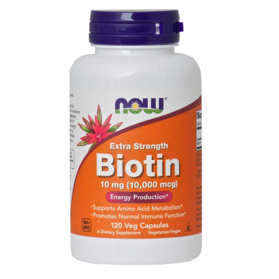 Now, Biotina en Cápsulas, 120cap/10mg