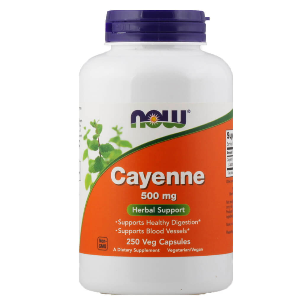 Now, Cayena, en cápsulas, 250cap/500mg