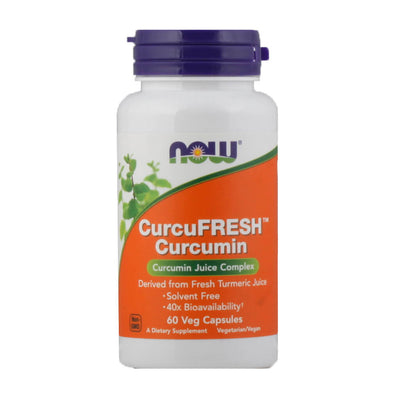 Now, Curcumina, CurcuFresh, en cápsulas, 60 cap/600mg