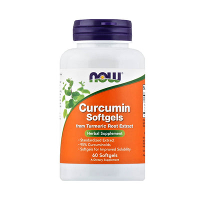 Now, Curcumina, en cápsulas, 60cap/475 mg