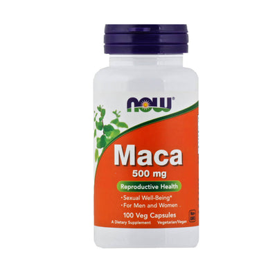 Now, Maca, Vegetarianas, en cápsulas, 100cap/500mg