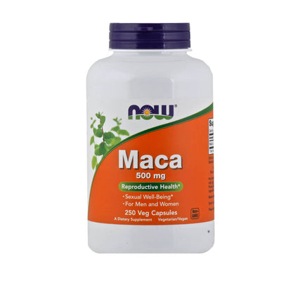 Now, Maca, Vegetarianas, en cápsulas, 250cap/500mg