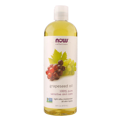 Now, Aceite de Semilla de Uva, 473 ml