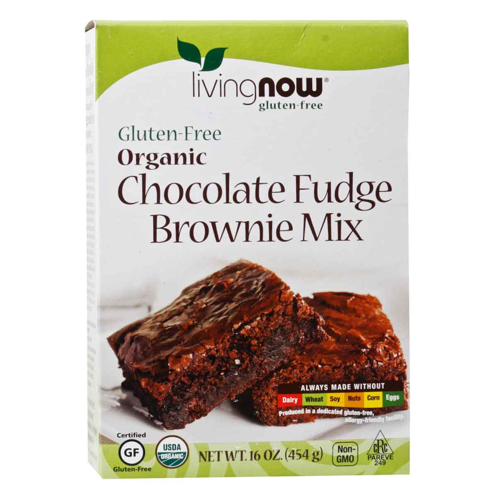 Now, Harina para Brownie, Sin Gluten, 454g