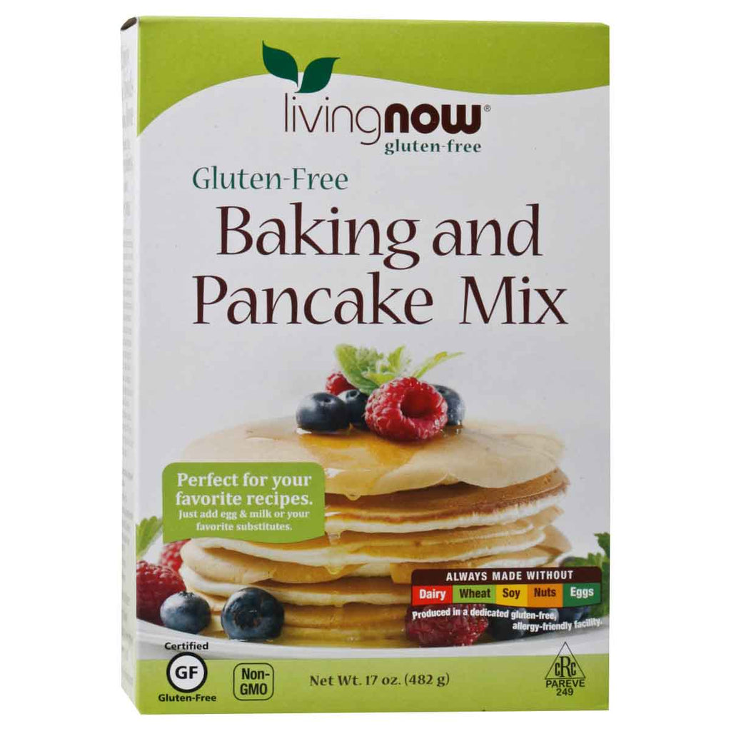 Now, Harina para Panqueques, Sin Gluten, 482g