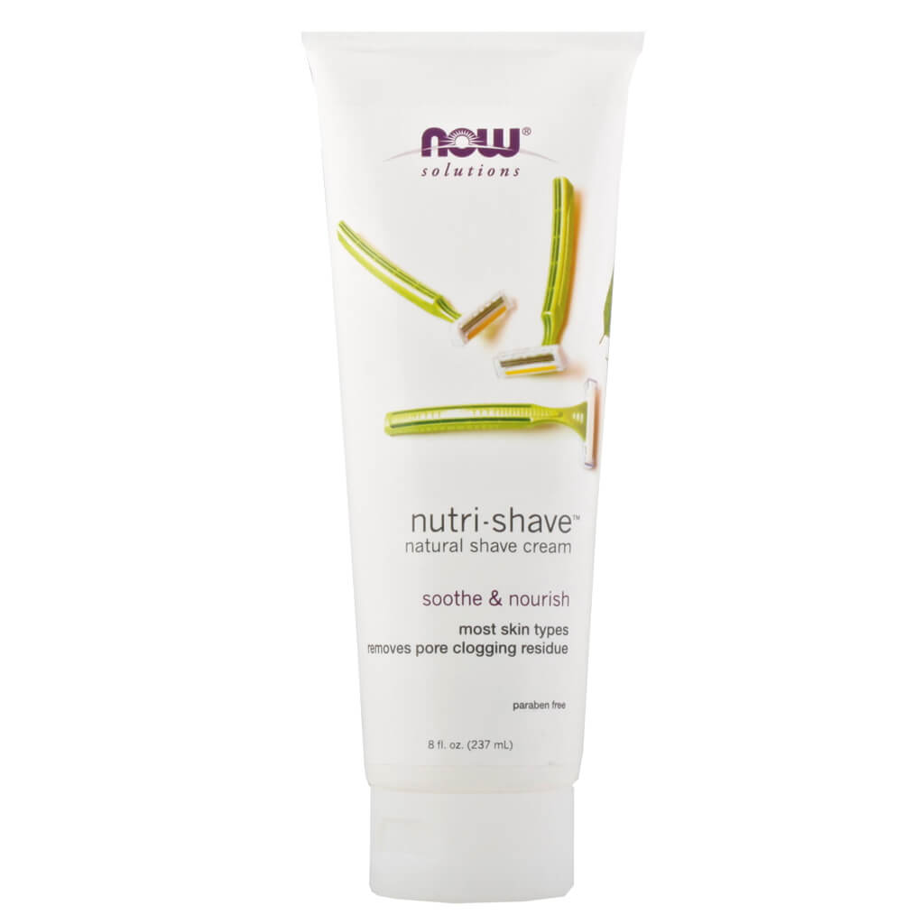 Now, Nutri-Shave, Crema Natural para Afeitado, 237ml