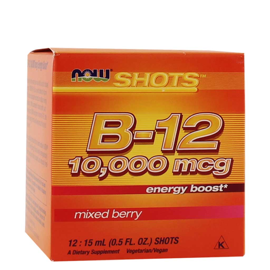 Now, Shots de B-12, Moras Mixtas, 12 shots, 15ml c/u