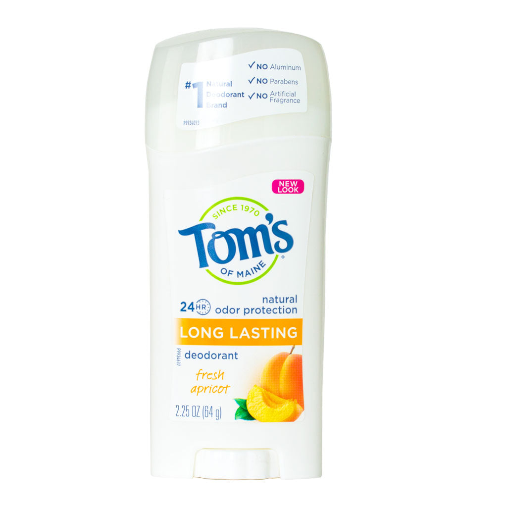 Tom's of Maine, Desodorante en Barra, Chabacano, Larga Duración, 64g