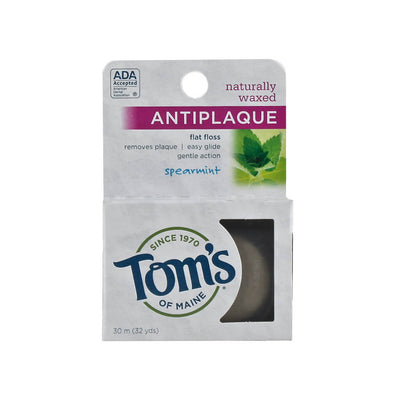 Tom's of Maine, Hilo Dental Anti-Placa con Cera Natural de Menta, 30m