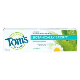 Tom's of Maine, Pasta Dental Cuidado Completo, Sin Fluoruro, Menta, Brillante Botánico,133g