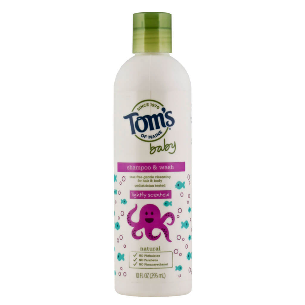Tom's of Maine, Shampoo y Gel de baño para Bebés, Suave Fragancia, 295 ml