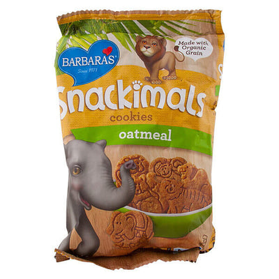 R- Barbara's Bakery, Snackimals, Galletas de Animalitos, Sabor Avena, 60 g