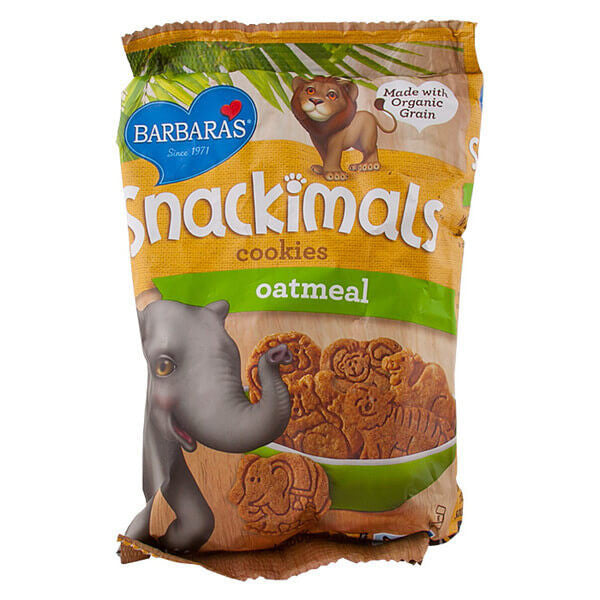 Barbara's Bakery, Snackimals, Galletas de Animalitos, Sabor Avena, 60 g