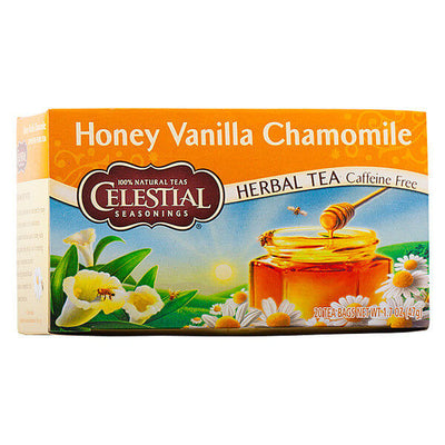 Celestial Seasonings, Té Herbal de Manzanilla, Miel y Vainilla, Descafeinado, 20 pz, 47g
