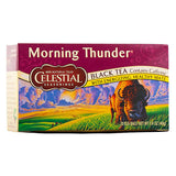 Celestial Seasonings, Té Negro, Morning Thunder, 20 bolsitas, 40g