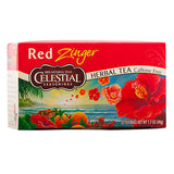 Celestial Seasonings, Té Herbal Rojo, Sin Cafeína, 20 bolsitas, 49g