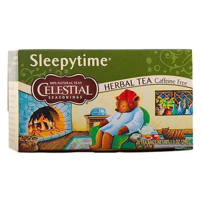 Celestial Seasonings, Té Herbal, Hora de Dormir, Descafeinado, 20 pz, 29g