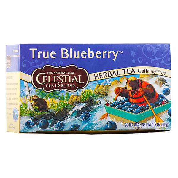Celestial Seasonings, Té Herbal Mora Azul, Sin Cafeína, 20 bolsitas, 45g